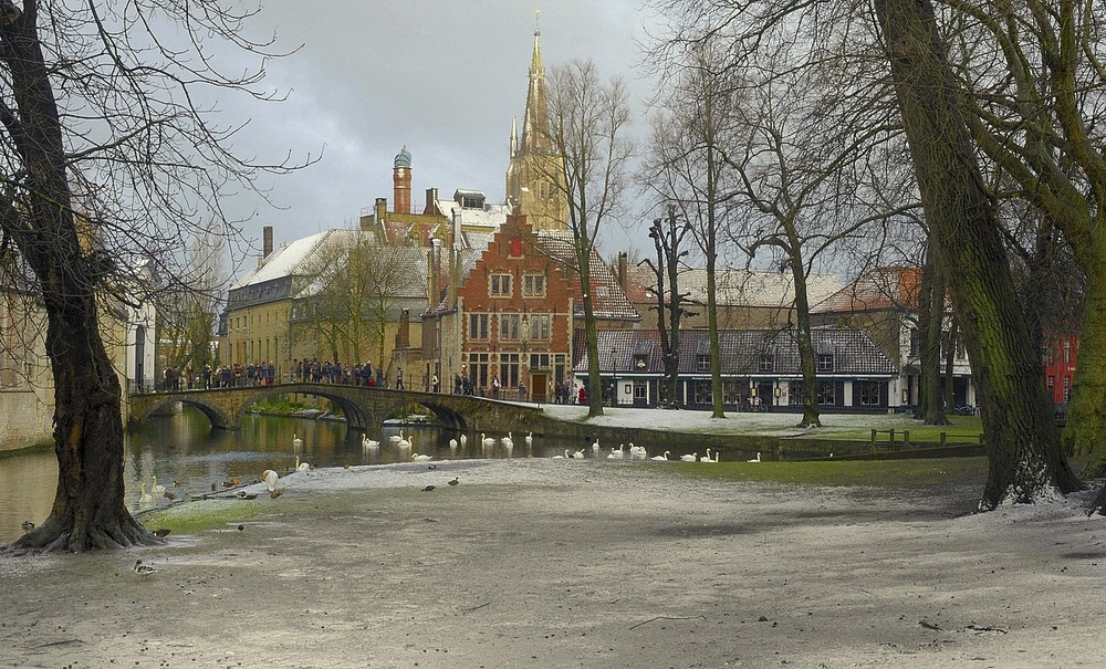 Winter in Bruges.