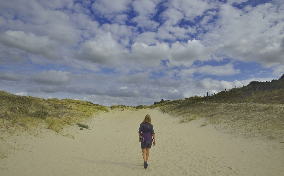 Walking in the dunes.