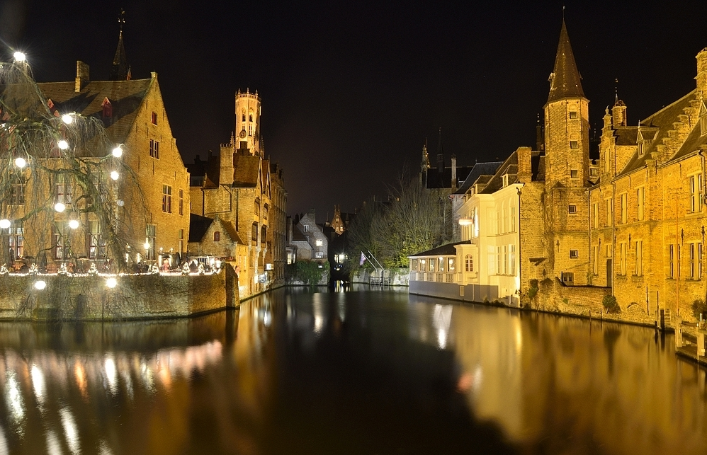 Evening in Bruges.