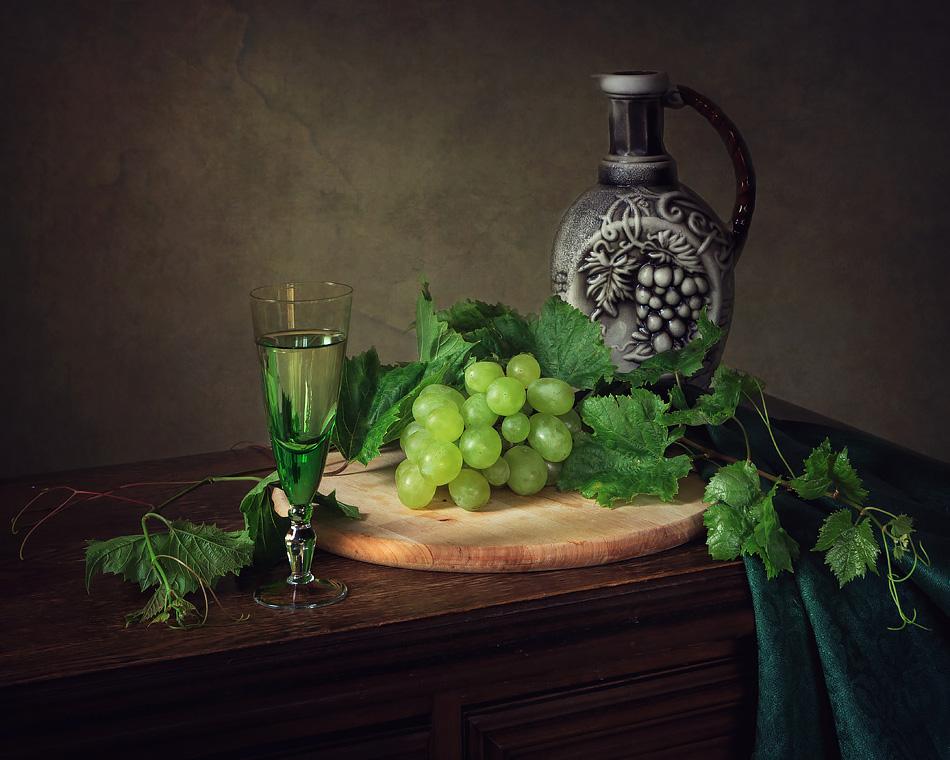 Виноград вино и цветы 38