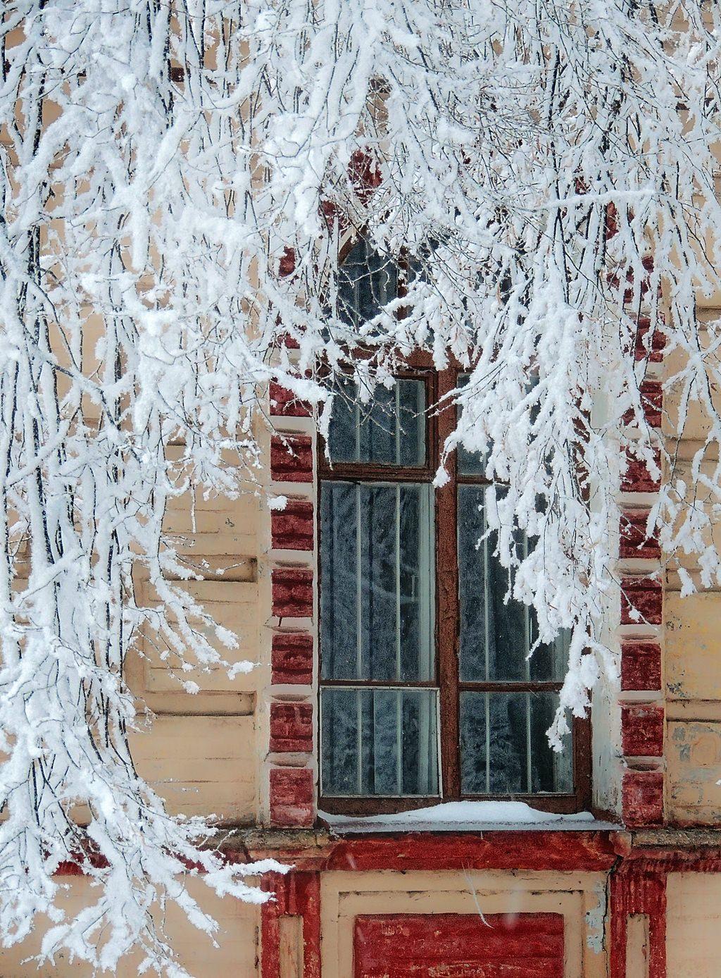 Картинка снежное окно